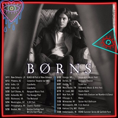 Borns Announce Upcoming U S Tour Stage Right Secrets