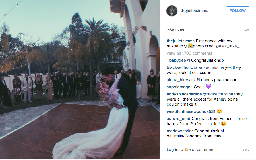 Juliet Simms And Andy Biersack Tie The Knot
