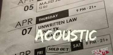 Unwritten Law Acoustic Session!