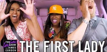 First Lady Michelle Obama Takes James Corden On A White House Tour In New Carpool Karaoke