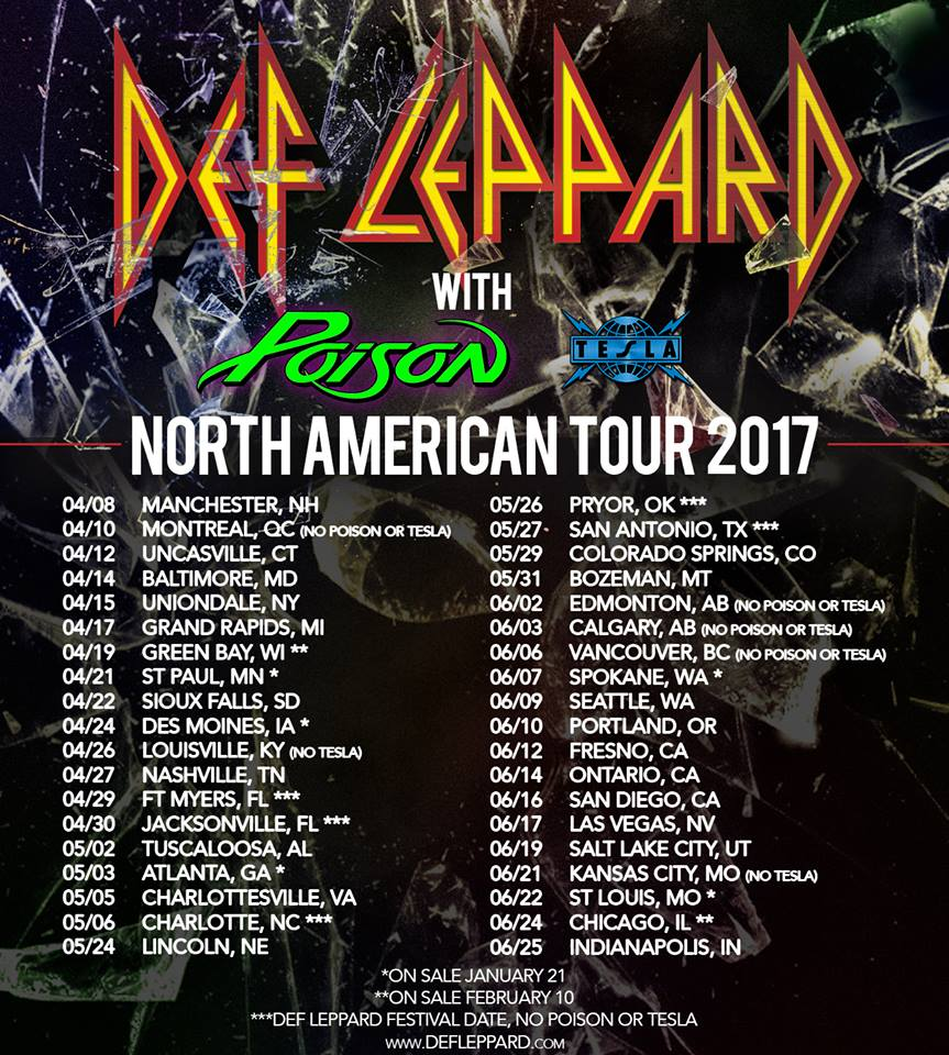 def leppard announce north american tour with poison and tesla stage right secrets. Black Bedroom Furniture Sets. Home Design Ideas