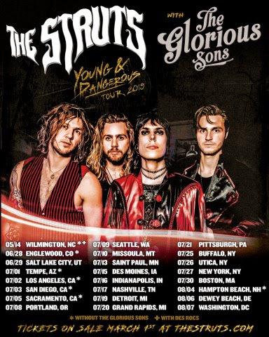 The Struts Announce North American Summer Headlining Tour