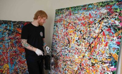 Ed Sheeran Painting Single Artwork